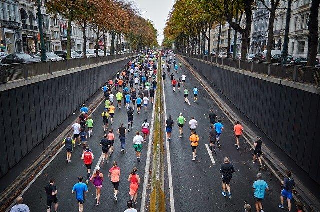 maraton ve městě