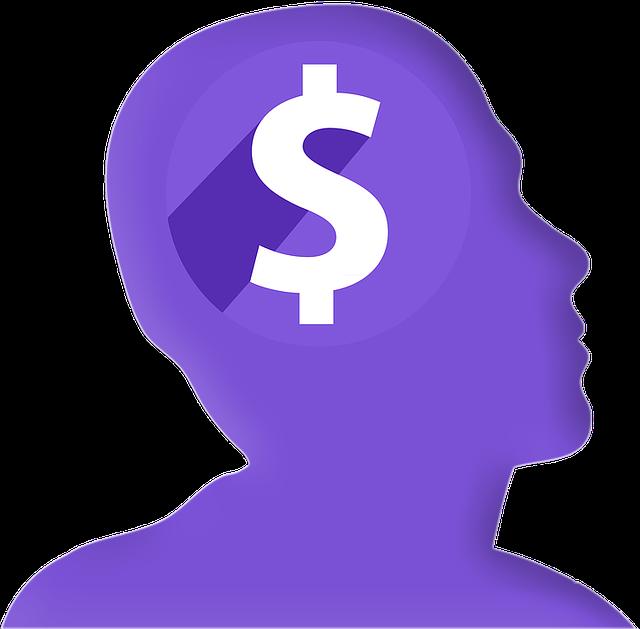 myšlenka na peníze