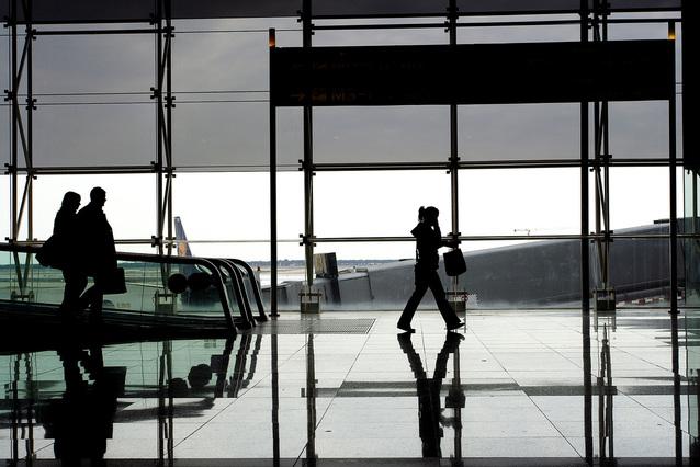 Přílet na letiště v Barceloně